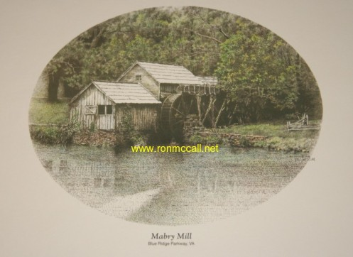 Mabry Mill in the Spring